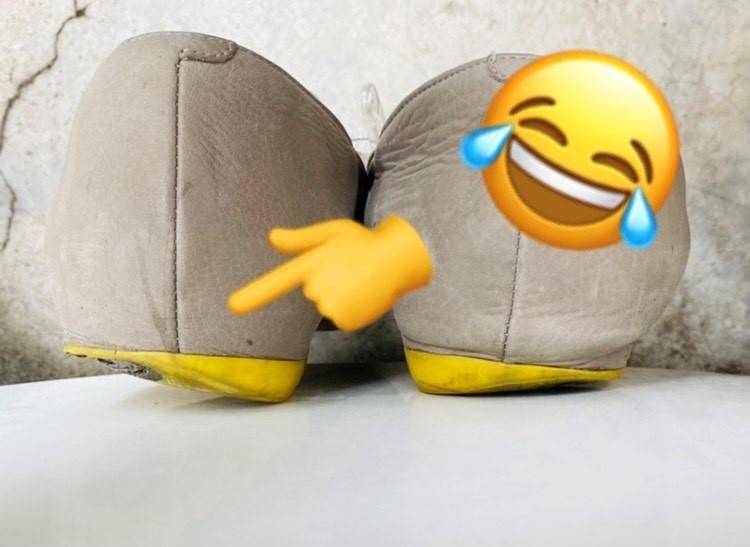 靴の底が減っている